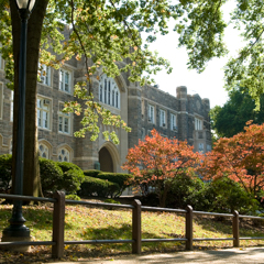 Exterior view of Keating Hall
