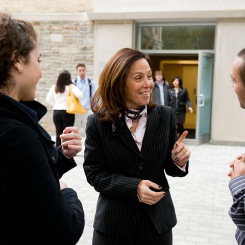 Dean Rapaccioli with Students