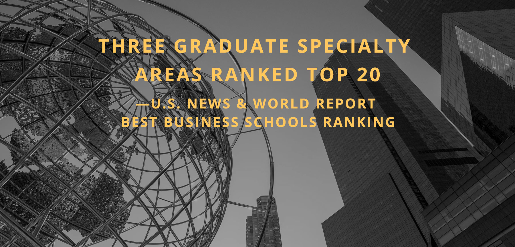 Three Graduate Specialty Areas Ranked Top 20