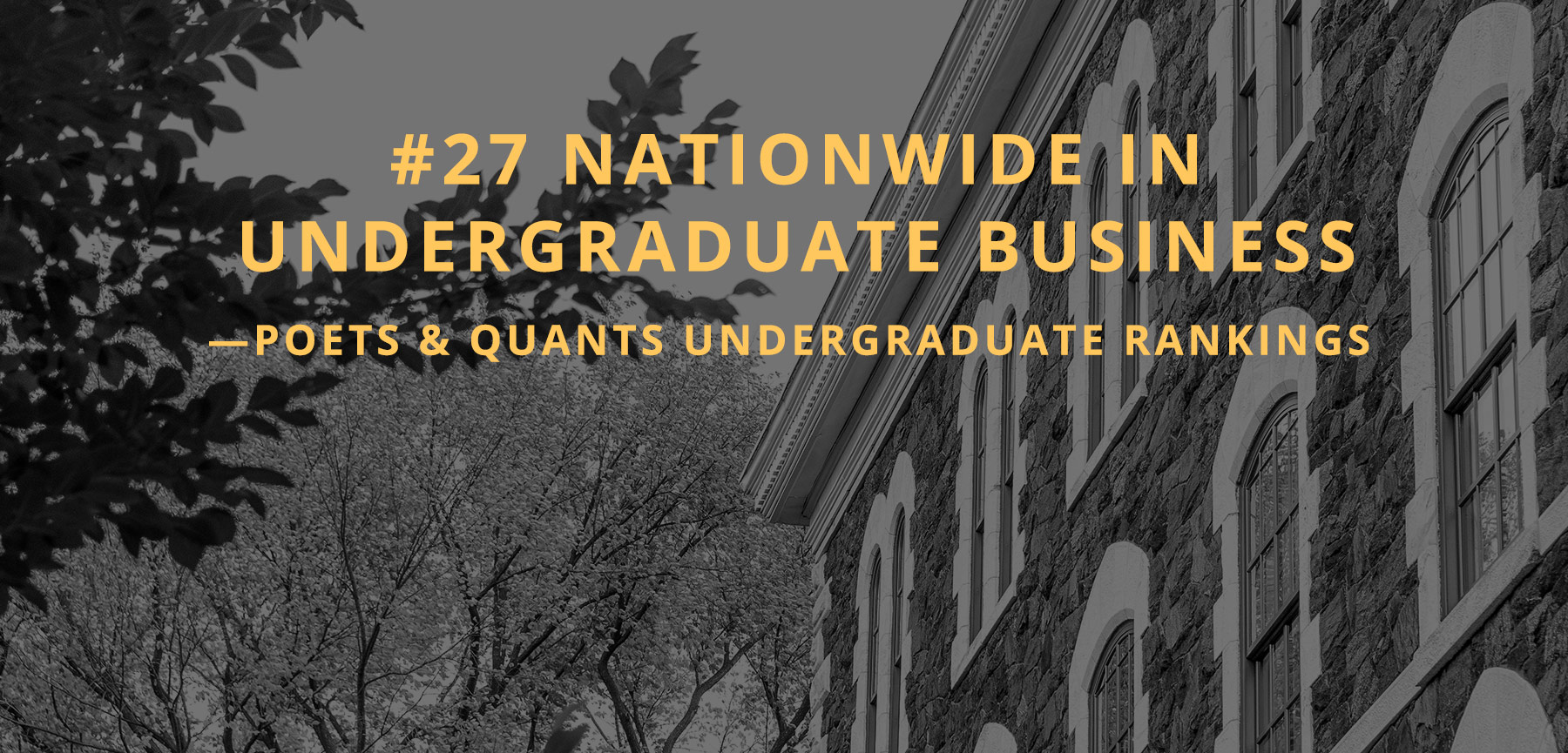 #27 nationwide in undergraduate business