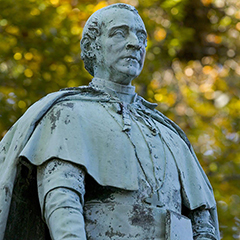 Statue of Archbishop Hughes, Rose Hill Campus