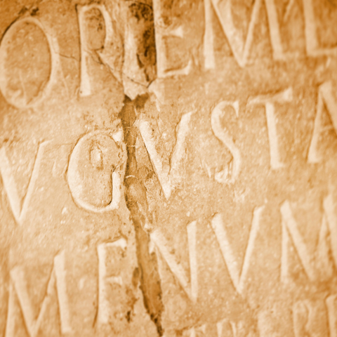 Stock photo of latin inscription - LG