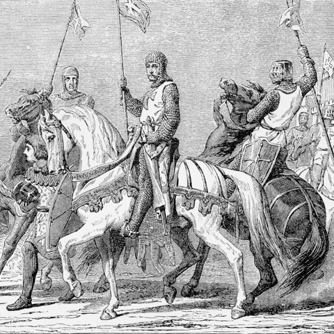 Old illustration of crusaders - LG
