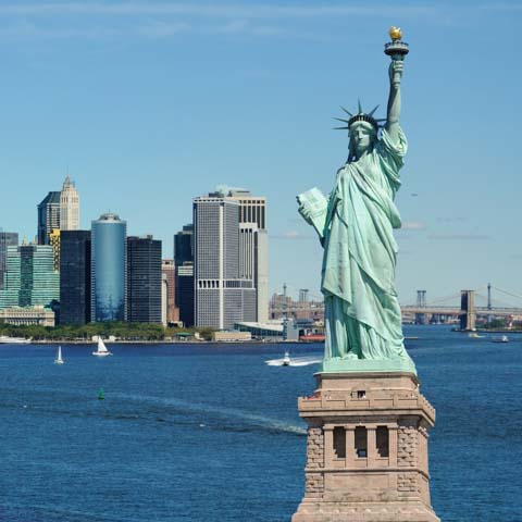 Statue of Liberty and Skyline - LG