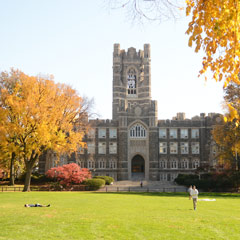 Keating Hall in Fall