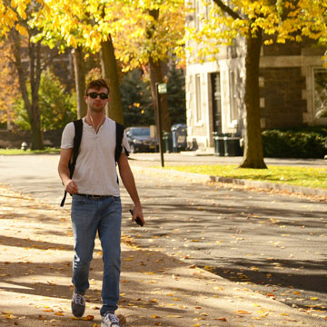 Male Student Walking
