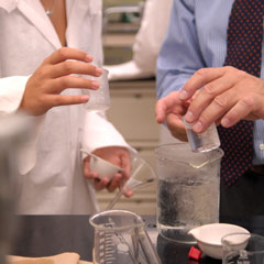 Researchers with Beakers