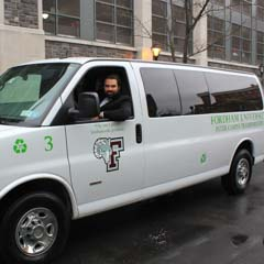 Fordham shuttle van with driver - SM